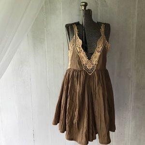 Free People Anthropology 2 Piece Set Mini Dress